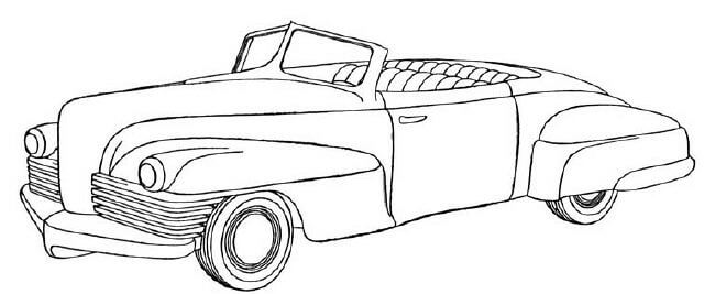 old fashioned cars coloring pages - photo#12