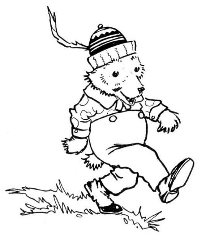 Animal Coloring Pages Bear With a Hat On