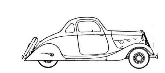 Car With A Spare Tire Men Coloring Pages