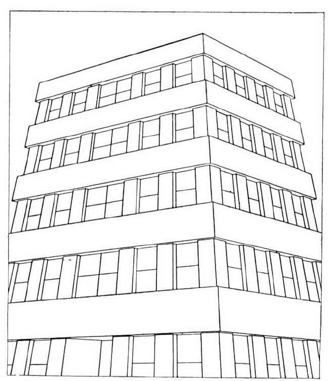 tall building - Apartment Building Coloring Pages