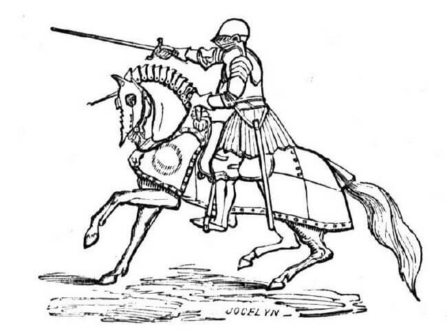 printable knight coloring pages - photo#30